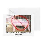 RePIGlican4 Greeting Cards (Pk of 10)