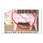 RePIGlican4 Rectangle Sticker