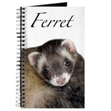 Cute Ferret Face Journal