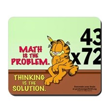 Math Problem Garfield Mousepad