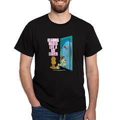 Reading Makes Life Easier Dark T-Shirt