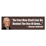 The Use Of Arms... Bumper Sticker (10 pk)