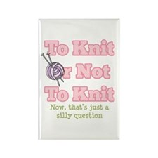 To Knit Or Not To Knit Rectangle Magnet (100 pack)
