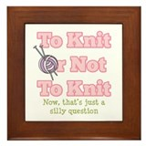 To Knit Or Not To Knit Framed Tile