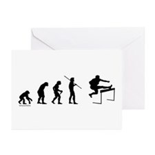 Hurdle Evolution Greeting Cards (Pk of 10)