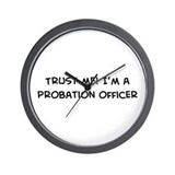 Trust Me: Probation Officer Wall Clock