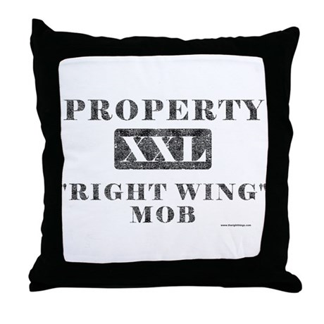 Right Wing Mob Throw Pillow