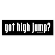 got high jump? Bumper Sticker (10 pk)