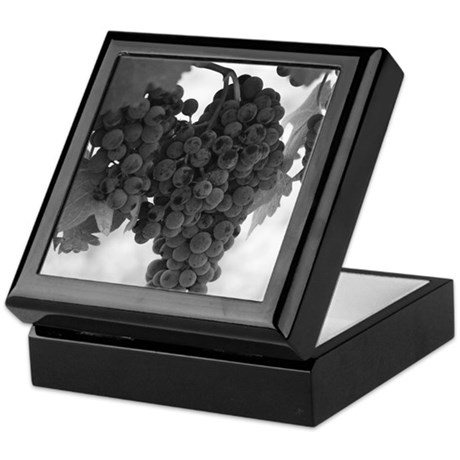 Napa Valley Wine Country Ripe Grapes Keepsake Box