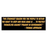 """Right To Bear Arms"" Bumper Bumper Sticker"