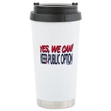 Keep the Public Option! Ceramic Travel Mug