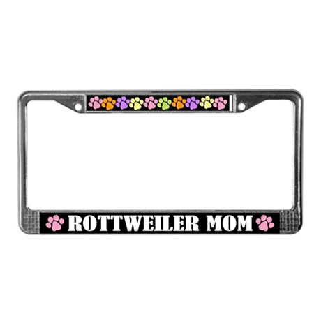 Rottweiler Mom License Plate Frame