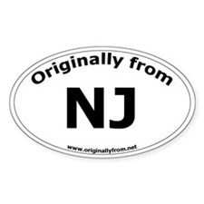 NJ Oval Decal