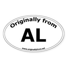 AL Oval Decal