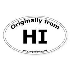 HI Oval Decal