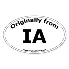 IA Oval Decal