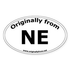 NE Oval Decal