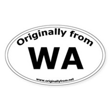 WA Oval Decal
