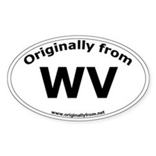 WV Oval Decal