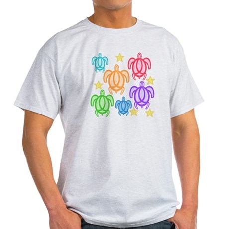 Distressed Rainbow Turtles Light T-Shirt