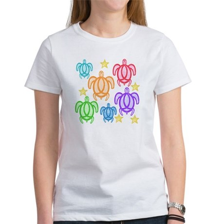 Distressed Rainbow Turtles Women's T-Shirt