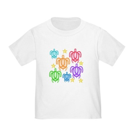 Distressed Rainbow Turtles Toddler T-Shirt