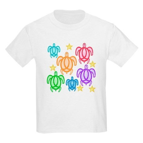 Distressed Rainbow Turtles Kids Light T-Shirt