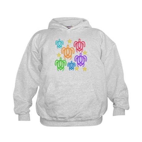 Distressed Rainbow Turtles Kids Hoodie