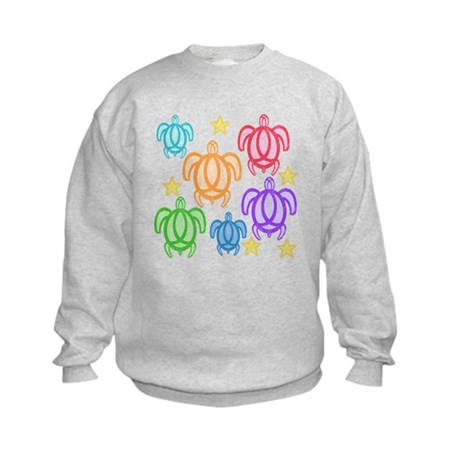 Distressed Rainbow Turtles Kids Sweatshirt