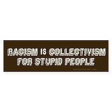Racism is Stupid Bumper Bumper Sticker