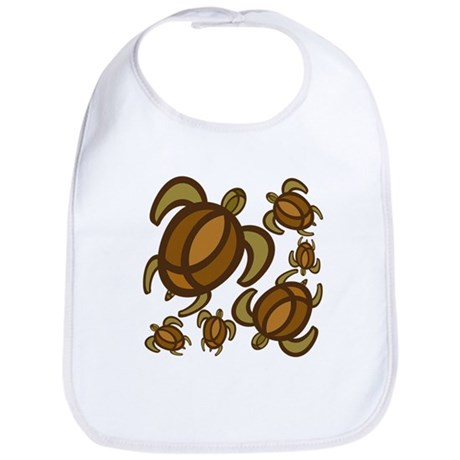 Rust Turtles Bib