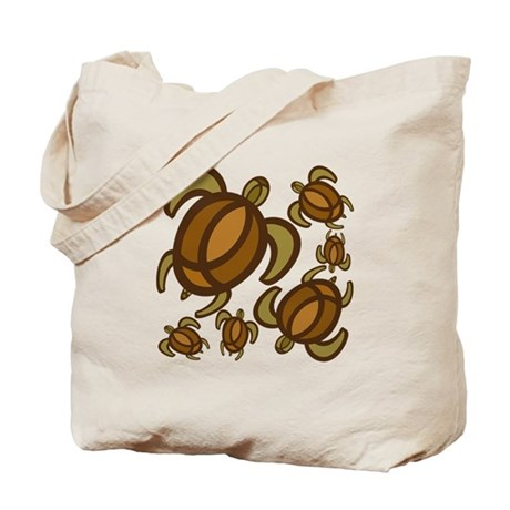 Rust Turtles Tote Bag