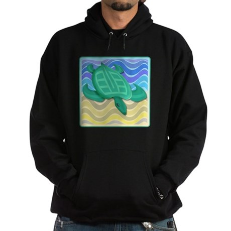 Turtle On Beach Hoodie (dark)