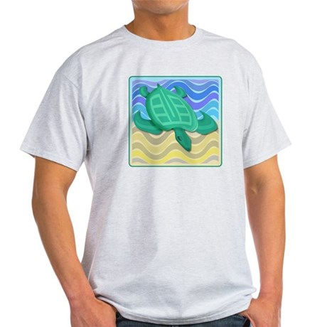 Turtle On Beach Light T-Shirt