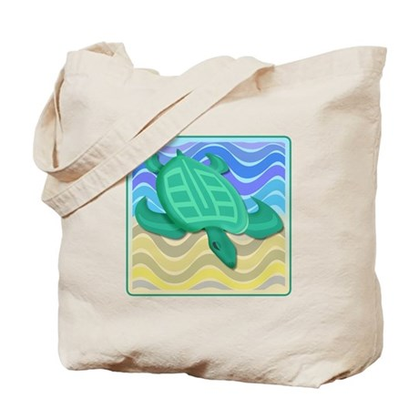 Turtle On Beach Tote Bag