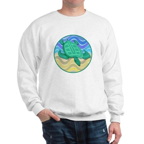 Turtle On Beach Sweatshirt