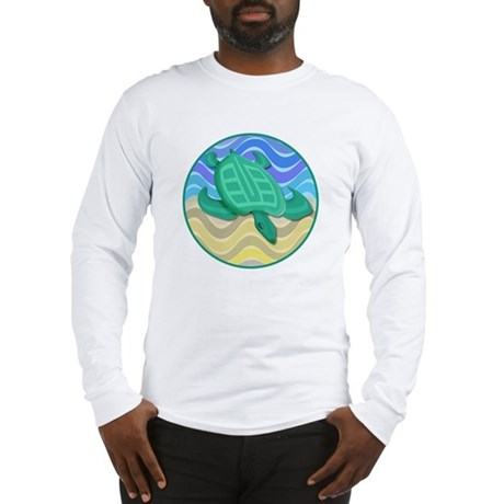Turtle On Beach Long Sleeve T-Shirt