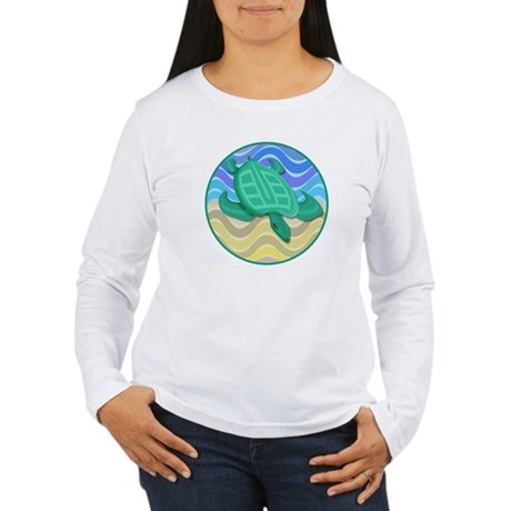 Turtle On Beach Women's Long Sleeve T-Shirt