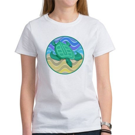 Turtle On Beach Women's T-Shirt