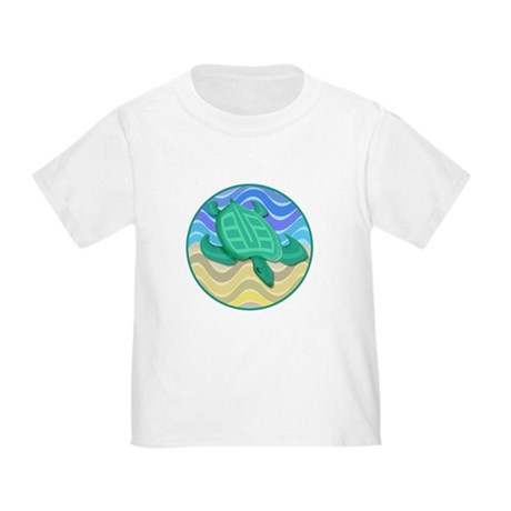 Turtle On Beach Toddler T-Shirt