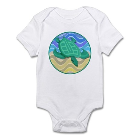 Turtle On Beach Infant Bodysuit