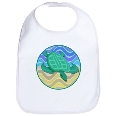 Turtle On Beach Bib