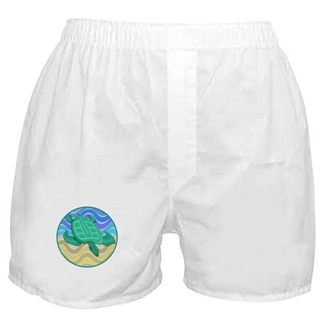 Turtle On Beach Boxer Shorts