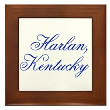 Harlan Kentucky Framed Tile