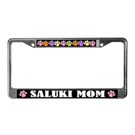 Cute Saluki Mom License Frame Dog Gift