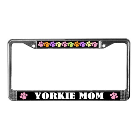Yorkie Mom License Frame Dog Gift