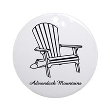 Adirondack Mountains Ornament (Round)