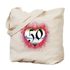 Gothic Heart 50th Tote Bag