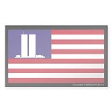 The WTC Memorial Flag Bumper Stickers
