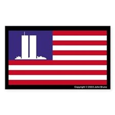The WTC Memorial Flag Decal